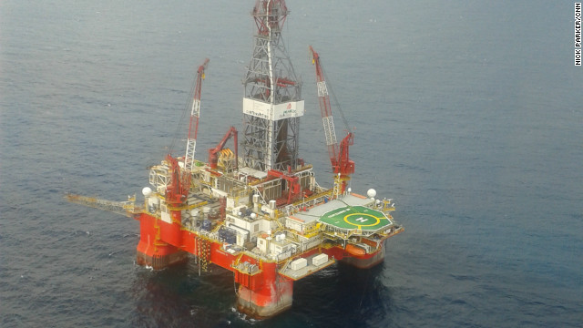 Exploration platform used to find deep-water oil reserves in the Gulf of Mexico