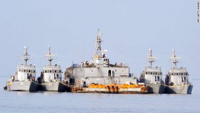 South Korean Navy vessels berthed off the South Korea-controlled island of Yeonpyeong near the disputed waters of the Yellow Sea on December 22, 2010.