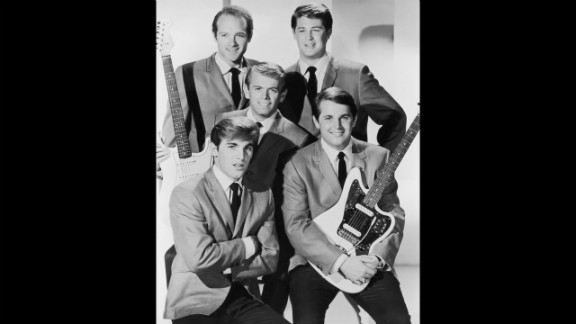 From left to right: Dennis Wilson (1944 -1983), Al Jardine, Mike Love, Brian Wilson and Carl Wilson (1946 -1998) in a studio portrait circa 1962.