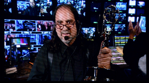 """Director Glenn Weiss accepts the outstanding directing for a variety, music or comedy special for """"The 65th Annual Tony Awards."""""""