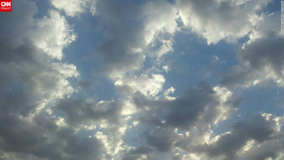 "In Beirut, Lebanon, Carol Boyadjian woke up early to <a href=""http://ireport.cnn.com/docs/DOC-845338"">get this shot of clouds</a> with her Samsung Galaxy S2. ""The sky in Lebanon looks amazing in the mornings,"" she said."