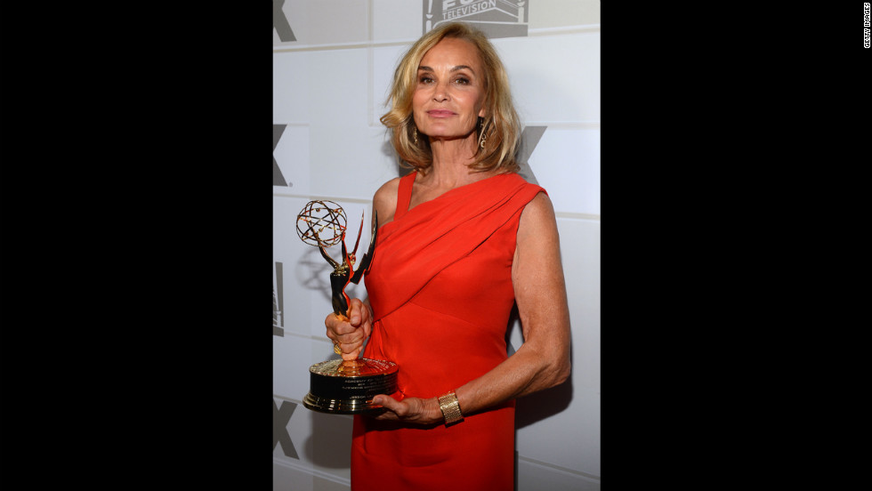 "Jessica Lange wins the best supporting actress in a miniseries or movie for her role in ""American Horror Story."""