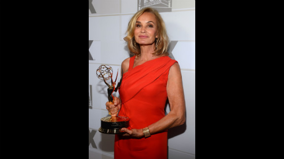 """Jessica Lange wins the best supporting actress in a miniseries or movie for her role in """"American Horror Story."""""""