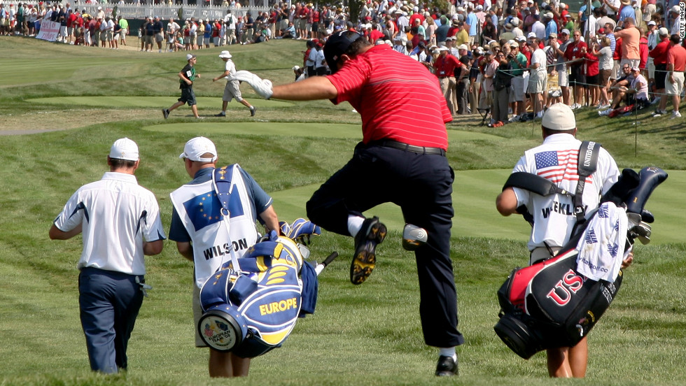 Boo Weekley's first fairway antics were a celebrated feature of the shock win for the United States over Europe at Valhalla in 2008.