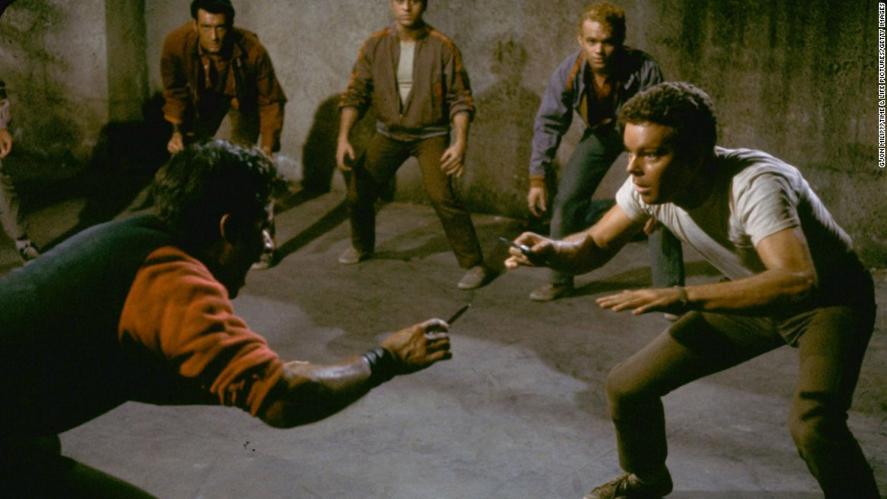 "A scene from the set of the 1961 movie, ""West Side Story.""<br />"
