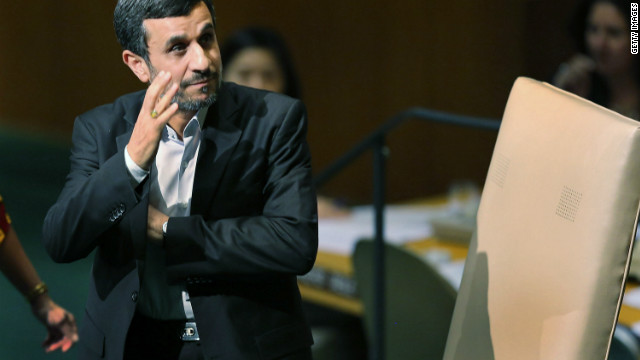 Iran's President Mahmoud Ahmadinejad cannot run for a third straight term.