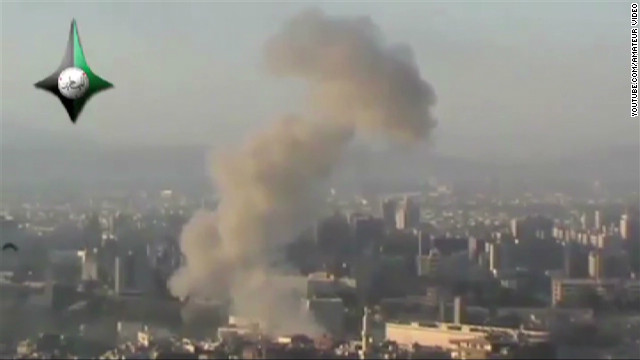 Two huge explosions rock Damascus