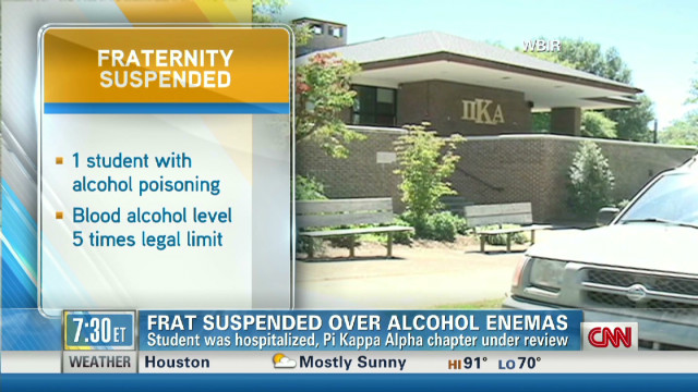 Frat suspended over alcohol enemas