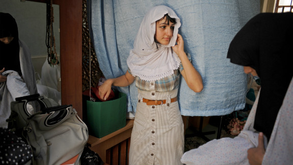 This photograph of a young girl dressed for Friday prayers at her mosque in Baku, Azerbaijan, is part of a series by American photographer Amanda Rivkin.