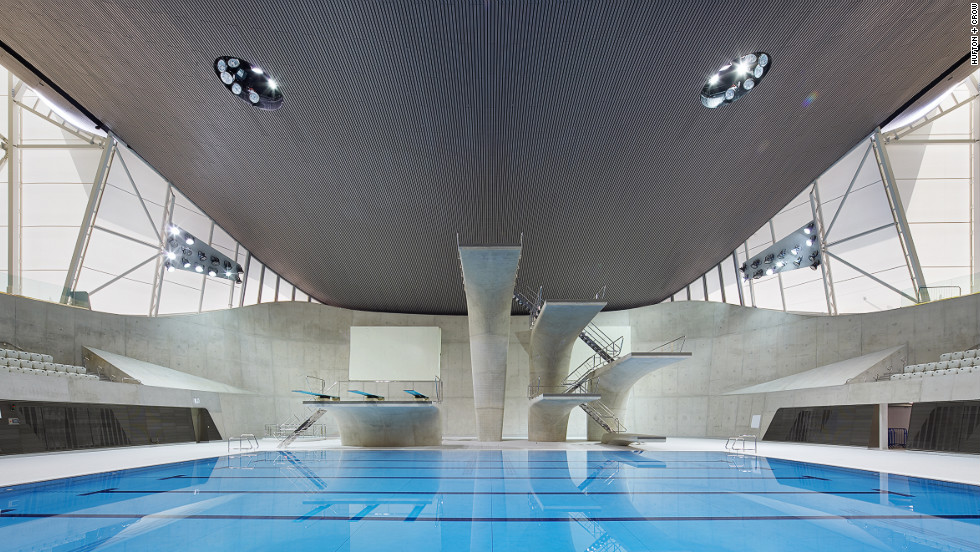 Hadid won international acclaim for the Aquatics Centre she designed for the 2012 Summer Olympics in London.