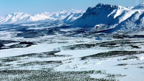 The Arctic National Wildlife Refuge in Alaska borders the National Petroleum Reserve.