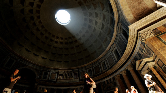 """Archaeo-astronomers have concluded that the Pantheon was designed so that the portico is flooded with light at the equinox. """"That is the beauty of architecture,"""" quips Koolhaas, """"364 days of the year it doesn"""