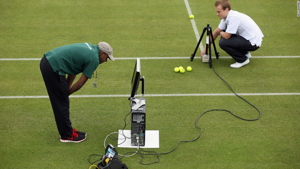 Hawk-Eye is an instant replay system used to determine whether the ball is in or out.