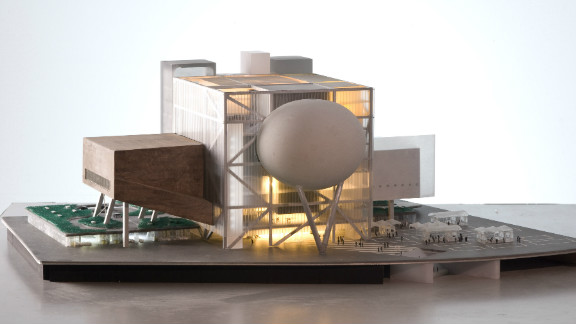 """Koolhaas has also designed the Taipei Performing Arts Center (model pictured), currently under construction. """"Architecture is always marshalling possibilities from all directions to do something that hasn"""
