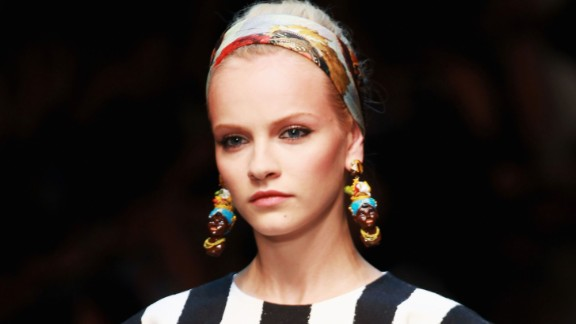 The Italian fashion house Dolce & Gabbana faced allegations of racism in 2012 for earrings that some people thought portrayed racist stereotypes. An article on D&G
