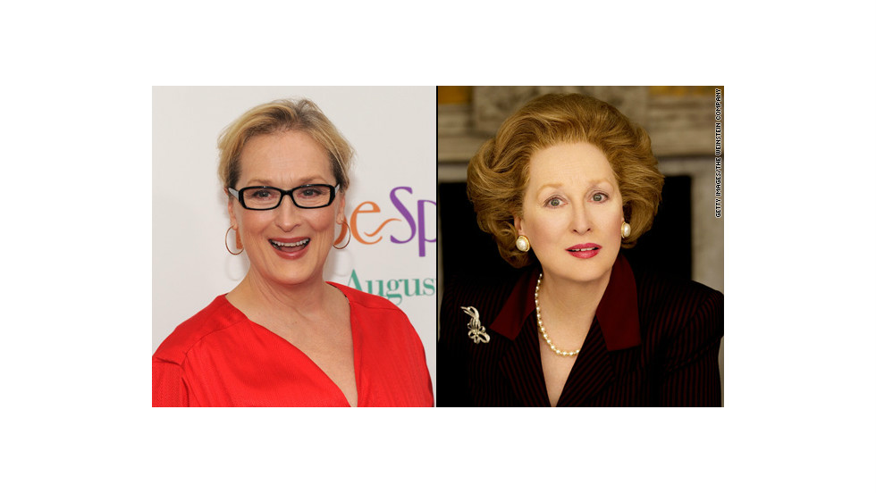 "Meryl Streep won an Oscar for her portrayal of British Prime Minister Margaret Thatcher in 2011's ""The Iron Lady,"" and so did members of her makeup team. They told <a href=""http://insidemovies.ew.com/2012/02/24/the-iron-lady-makeup-oscars-behind-the-scenes/"" target=""_blank"">Entertainment Weekly</a> they pulled it off by working around Streep's natural facial elements."