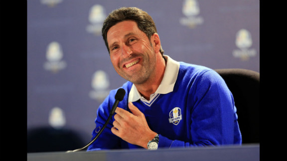 Jose Maria Olazabal serves as captain of the European team for this year