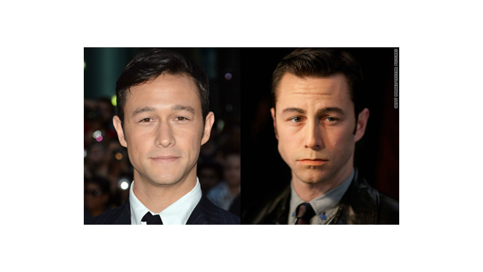 "In ""Looper,"" Joseph Gordon-Levitt was made up to look more like his co-star, Bruce Willis."