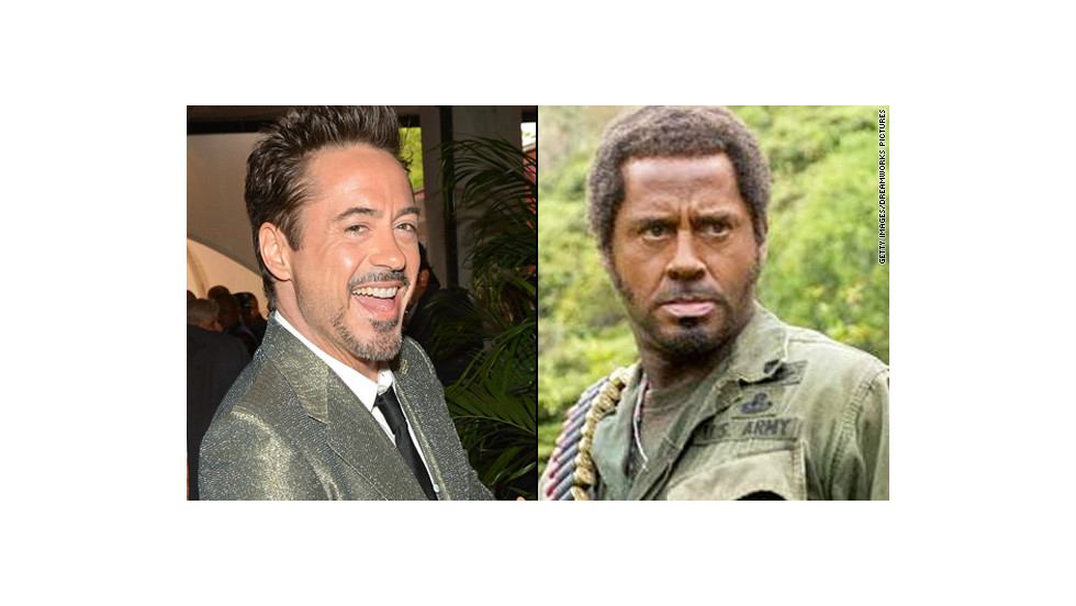 "Even if you don't remember 2008's ""Tropic Thunder,"" you likely recall that Robert Downey Jr. was in blackface for his role. The controversial makeup choice <a href=""http://www.ew.com/ew/article/0,,20182058,00.html"" target=""_blank"">was reflective of</a> the lengths that Downey's method actor character, Kirk Lazarus, would go to portray a Vietnam War sergeant who was initially written as African-American."