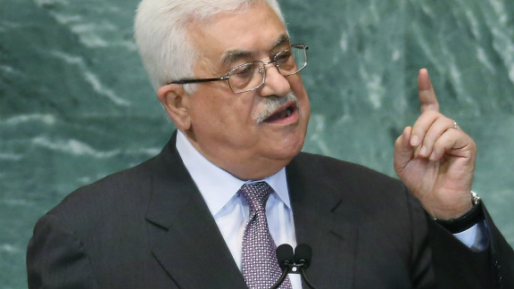 Mahmoud Abbas, president of the Palestinian Authority, is asking the U.N. General Assembly for nonmember state status.
