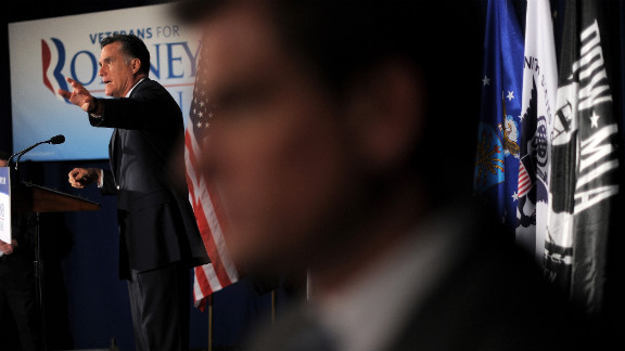 Romney speaks at a Veterans for Romney campaign event in Springfield, Virginia, on Thursday, September 27.