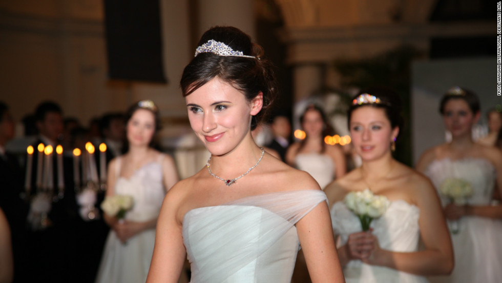 Larissa Scotting, 17, from Fulham in West London, was chosen as the Debutante of the Year at the Shanghai ball. Image courtesy of Shanghai International Debutante Ball.