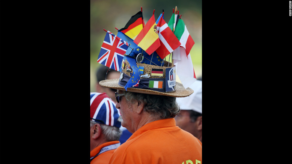 A Team Europe supporter watches the action Thursday.