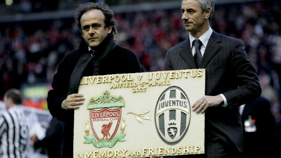 "Striker Ian Rush, right, spent one season at Juve in 1987-88 between two spells at Liverpool. Before the first leg of the 2005 quarterfinal at Anfield, Liverpool supporters held up a mosaic to form the word ""Amicizia"" (friendship). Some of the visiting Juve fans applauded, but many turned their backs in disgust. There is also a Heysel memorial plaque at Liverpool"