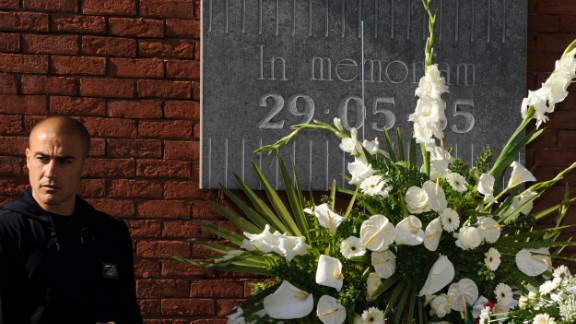 Former Juve defender Fabio Cannavaro attended a memorial ceremony for the victims of the Heysel stadium disaster prior to a friendly international between Italy and Mexico in Brussels on June 3, 2010 -- the 25th anniversary of the tragedy.
