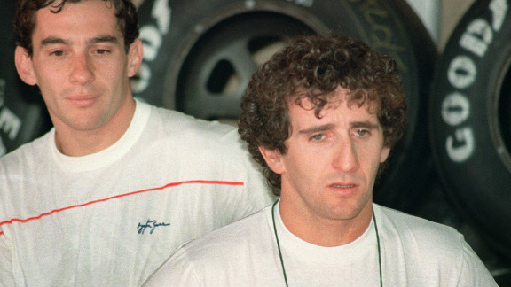 As they both battled for world titles at McLaren, Prost and Senna