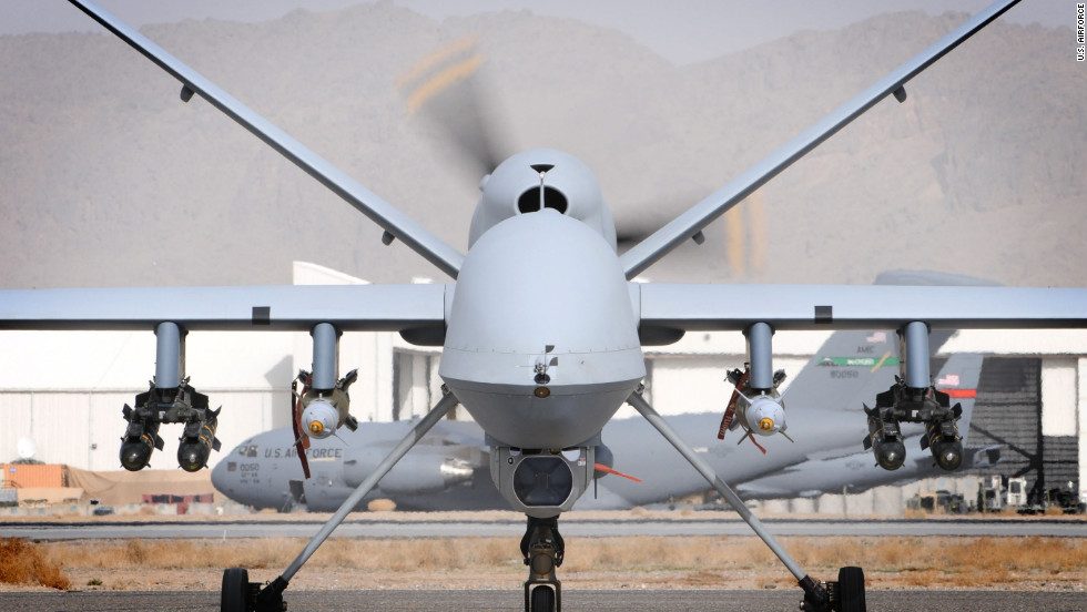 A British MQ 9 Reaper Sits On Runway March 17 Both Photos Military Drones