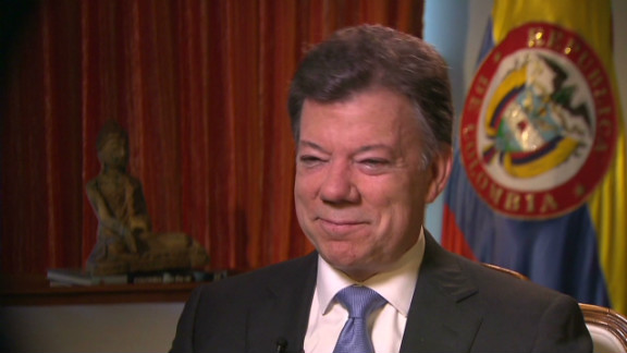 """On Monday, President Juan Manuel Santos announced his prostate cancer was """"small"""" and """"not aggressive."""""""