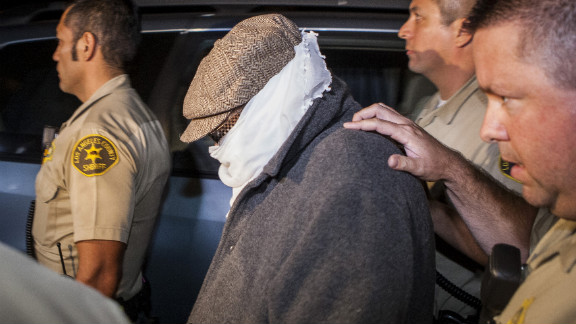 Nakoula Basseley Nakoula is led out of his Cerritos, California, home by Los Angeles County sheriff's officers on September 15.