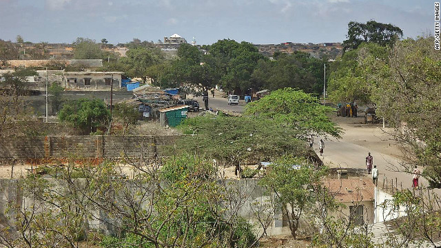 The southern Somali port city of Kismayo.