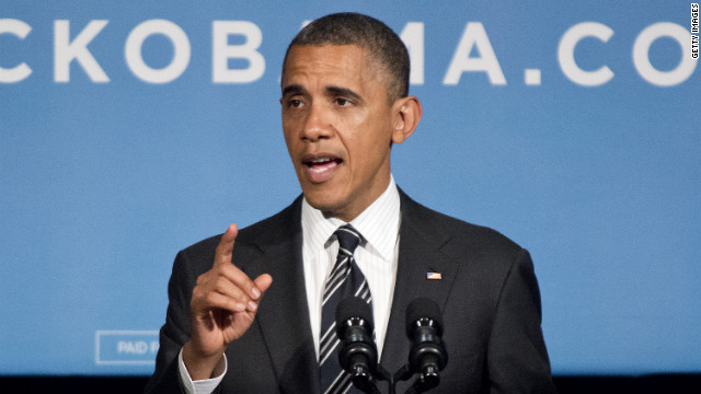 President Barack Obama addresses a fund-raiser event last week at the Capital Hilton Hotel in Washington.