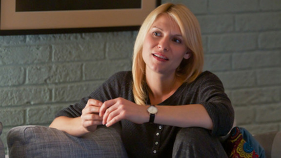 """""""Homeland,"""" starring Claire Danes, dethroned """"Mad Men"""" as the winner of Emmy's best drama award."""