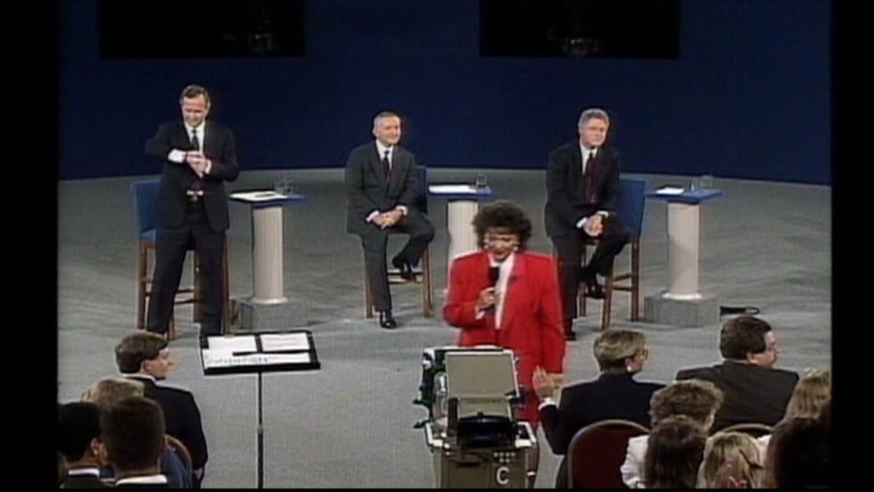 George H. W. Bush glanced at his watch during a 1992 debate -- a move that made Bush, whose re-election hopes were rapidly slipping away, seem uninterested in the concerns of the public.
