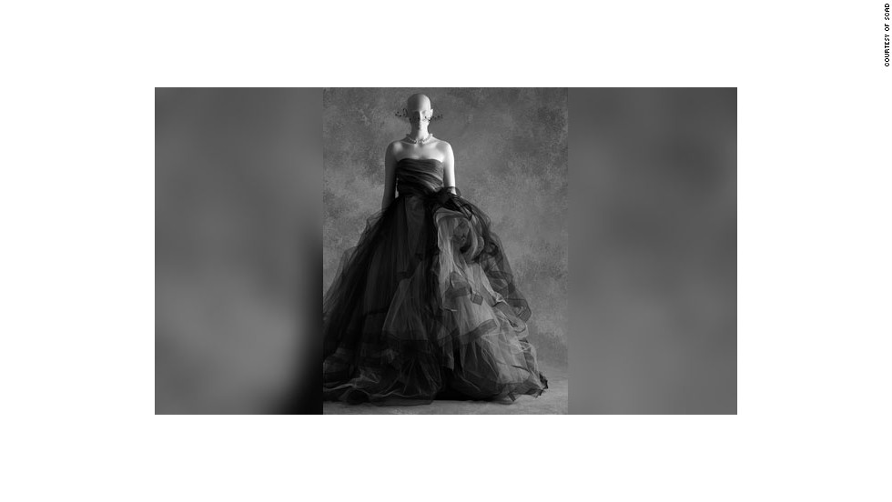 This Oscar de la Renta dress is made from 70 yards of black tulle. It's a big statement, Talley said, but it is still someone's favorite little black dress.