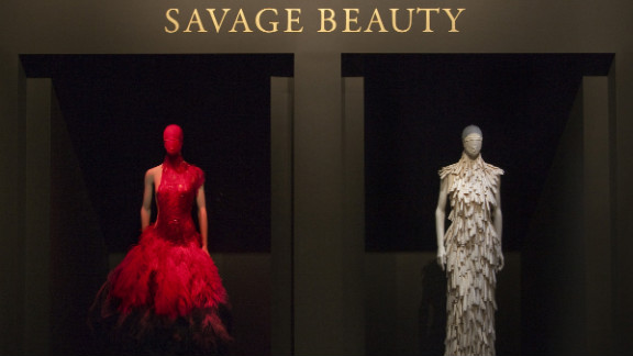 Pictured is the title wall from the Costume Institute