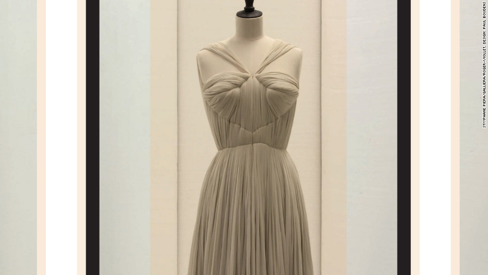 "The new ""Madame Grès. Sculptural Fashion"" exhibition — with pieces loaned from Paris' famed Musée Gallièra, Musée de la Mode de la Ville de Paris and private collections — runs September 12 through February 10 and includes this spring/summer 1952 evening gown from the legendary Paris couturier."