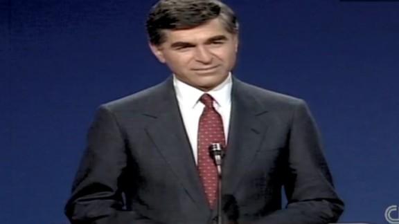 Michael Dukakis during the1988 presidential debate.