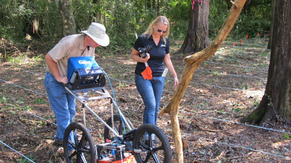 During the original investigation, forensic anthropologists used ground penetrating radar to find out how many remains were buried.