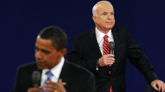 """John McCain sparked controversy when he referred to Obama as """"that one"""" during the second 2008 presidential debate. Obama later joked that his first name was Swahili for """"that one,"""" according to the New York Times."""