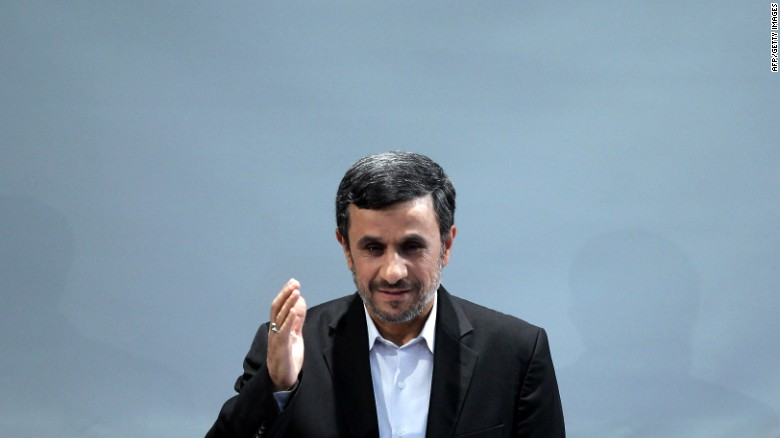 iranian president mahmoud ahmadinejad waves during a press conference in tehran on october 2 2012