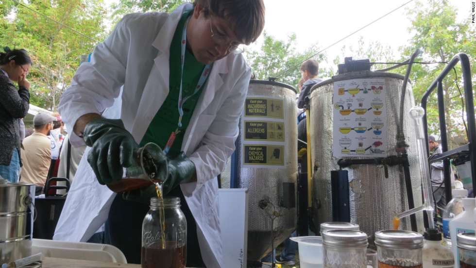 It's surprisingly easy to turn vegetable oil into biofuel as Ben Jorritsma, from Sussex County, New Jersey demonstrated.