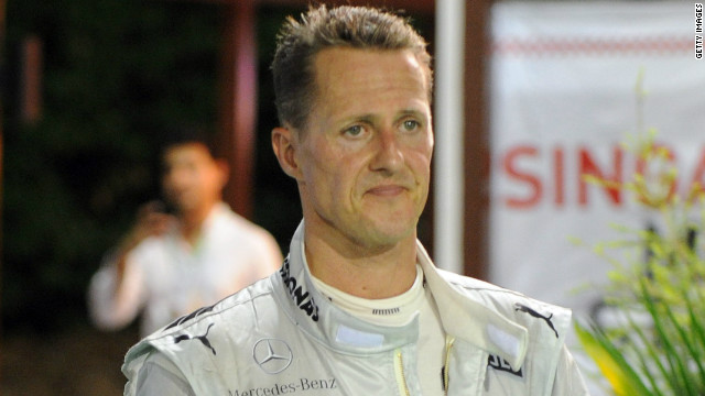 German Michael Schumacher won seven Formula One world championships between 1994 and 2004.