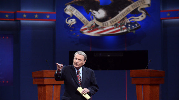 Leher takes the stage Wednesday. It's his 12th time moderating a presidential debate.