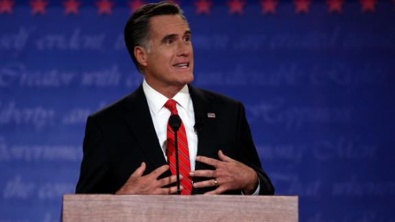 Romney speaks during Wednesday night