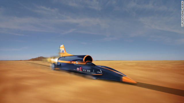 Bloodhound supersonic car set for 500 mph attempt in October