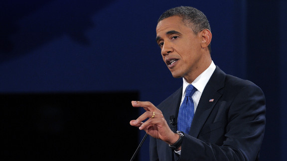 Obama argues his view. Both candidates said the other